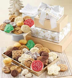 Happy Holidays Sparkling Bakery Gift Tower