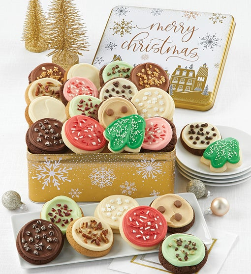 Premier Merry Christmas Gift Tin Frosted