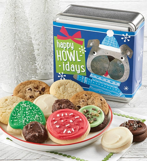 Happy Howl-idays Holiday Treats Tin