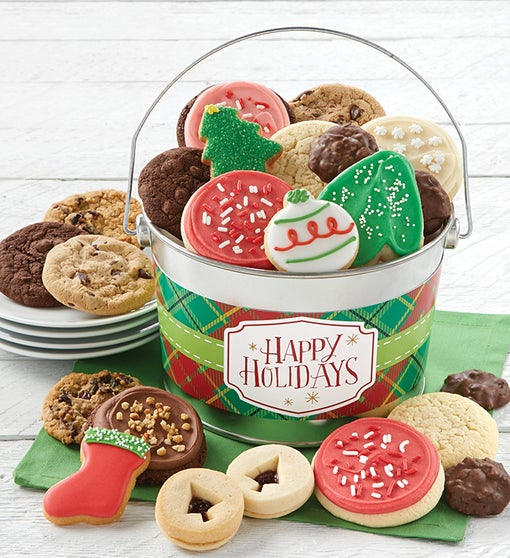 Happy Holidays Treats Pail