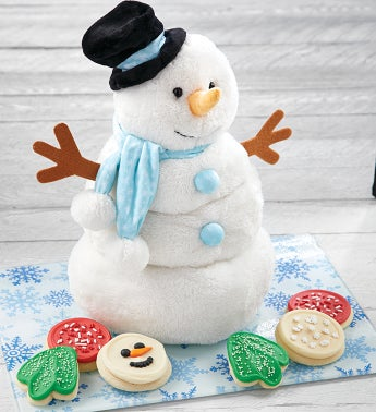 Musical Melting Snowman Plush