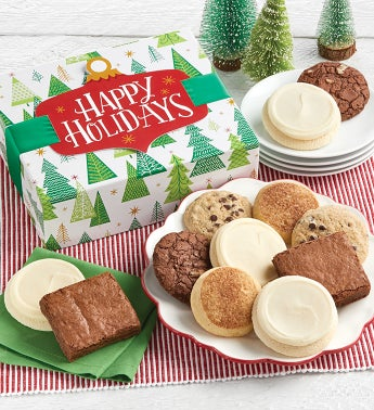 Gluten Free Happy Holidays Cookie and Brownie Gift Boxes