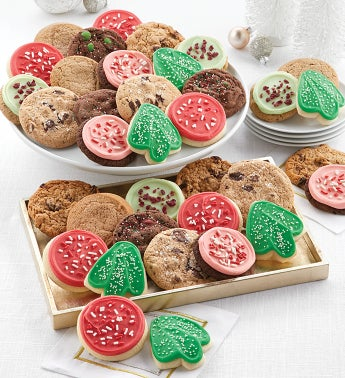Bow Gift Box – 36 Classic Holiday Cookies
