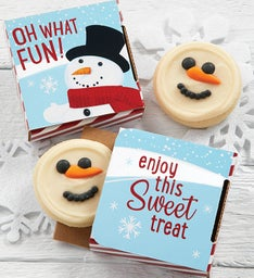 Snowman Cookie Card