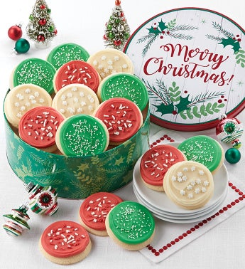 Buttercream Frosted Merry Christmas Gift Tin