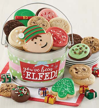 You've Been Elfed Treats Pail