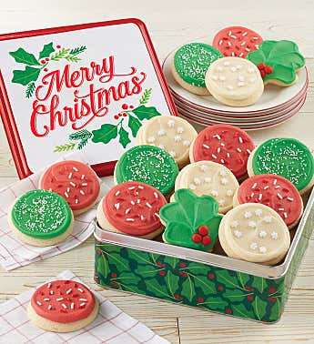 Merry Christmas Gift Tin - Holiday Cut-Outs