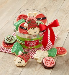You've Been Elfed Frosted Cookie Pail