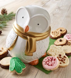 Collector's Edition Snow Owl Cookie Jar