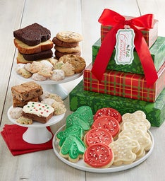 Home for the Holidays Bakery Gift Tower - Merry Christmas