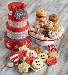 Holiday Cheer Gift Tin Tower