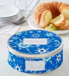 Miss Grace Lemon Cake - Snowflake Tin
