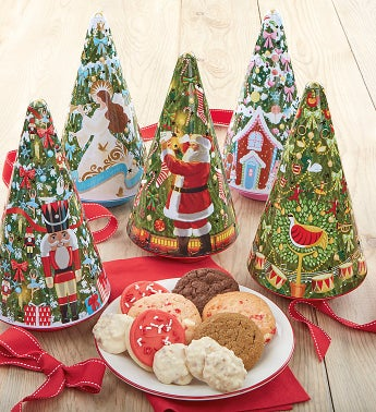 Christmas Tree Tin Set