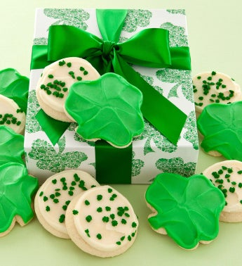 St Patricks Cookie Box - Frosted Cutouts
