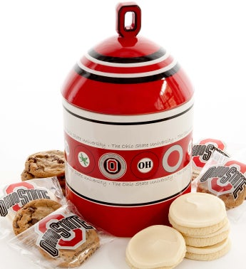 Ohio State University Cookie Jar With Cookies