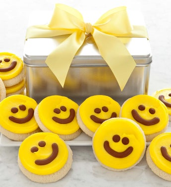 Yellow Happy Face Gift Tin