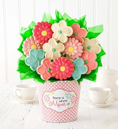 Mom Cookie Flower Pot