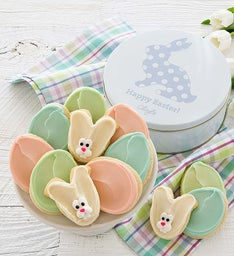 Easter Cut-out Tin - Bunny and Eggs