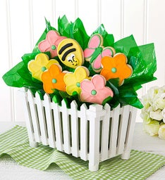 Garden Fence Cookie Flowers