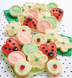 Buttercream Frosted Spring Cookies