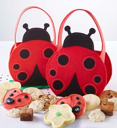 Lady Bug Felt Tote Set