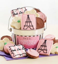 Another Year of Fabulous Buttercream Frosted and Crunchy Cookie Pail