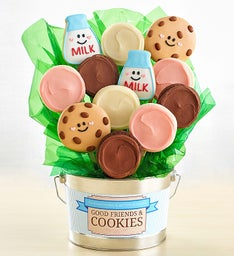 Good Friends and Cookies Flower Pot