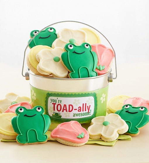 Toad-ally Awesome  Buttercream Frosted and Crunchy Cookie Pail