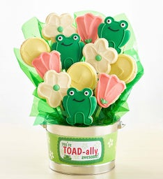 Toad-ally Awesome Cookie Flower Pot