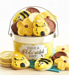 Have a Bee-utiful Day Frosted and Crunchy Cookie Pail