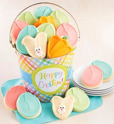 Easter Buttercream Frosted Cookie Pail