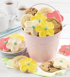 Mother's Day Pink Pail and Cookies