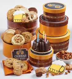 Fathers day cookies fathers day gift baskets cheryls cheers to you gift tower snipeimage negle Image collections
