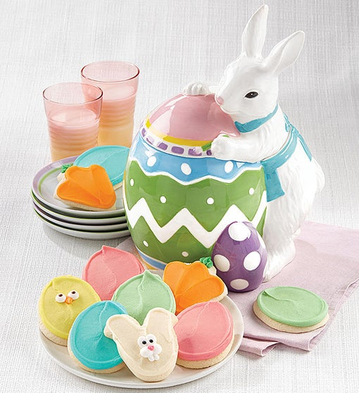 Collector's Edition Easter Painting Bunny Cookie Jar