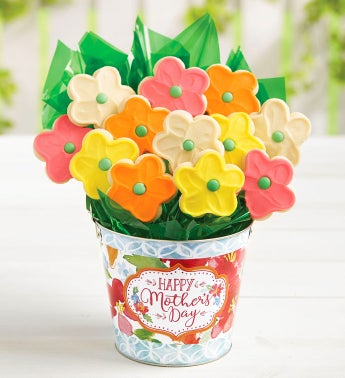 Happy Mother39s Day Cookie Flower Pot