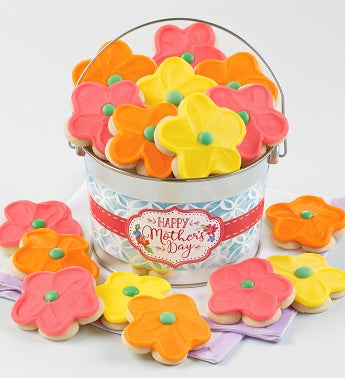 Happy Mother39s Day Floral Cookie Pail