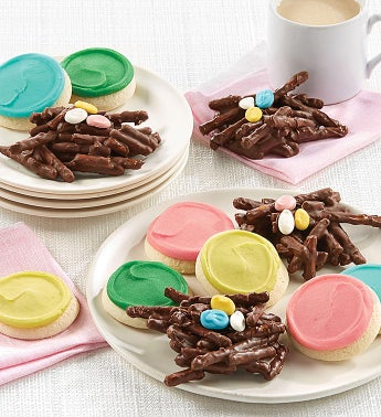 Easter Pretzel Nest and Cut out Cookie Gift