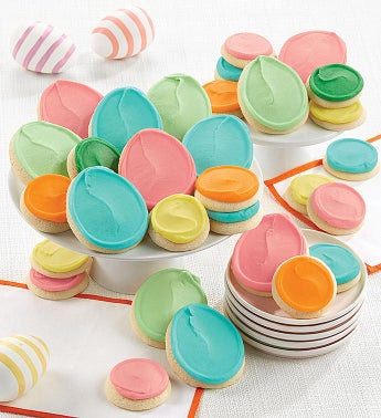 Buttercream Frosted Snack Size and Full Size Easter Cut-out Cookies