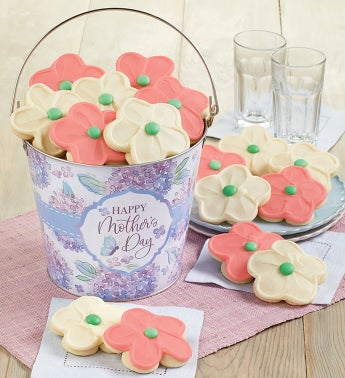 Buttercream Frosted Mothers Day Cookie Pail
