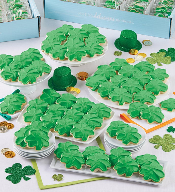 Buttercream Frosted St Patrick's Day Cut-Out Cookies