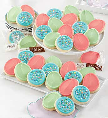 Buttercream Frosted Spring Pastels Cut-out Cookies