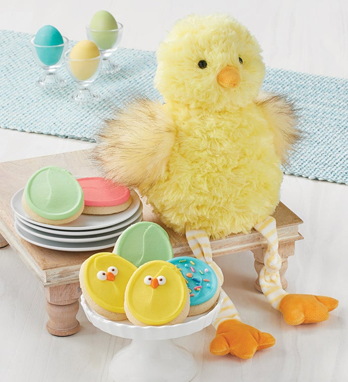 Easter Chick and Cookies