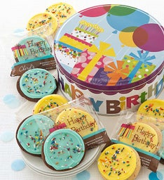 Musical Birthday Gift Tin - Birthday Cookies