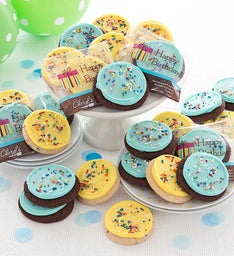 Buttercream Frosted Birthday Cut-out Cookies