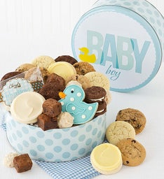 Welcome Baby Boy Gift Tin - Treats Assortment