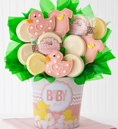 Baby Girl Cookie Flower Pot