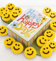 Have a Happy Day Gift Tin - Yellow Cut-outs
