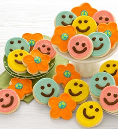 Buttercream Frosted Happy Face Cookies