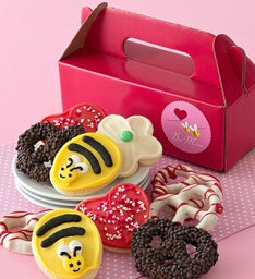 Bee Mine Cut-out Cookies and Pretzels