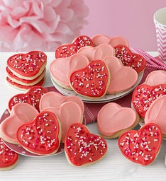 Buttercream Frosted Heart Cut-out Cookies